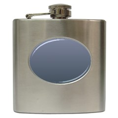 Cool Gray To Charcoal Gradient Hip Flask