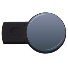 Cool Gray To Charcoal Gradient 1GB USB Flash Drive (Round)