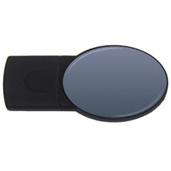 Cool Gray To Charcoal Gradient 1GB USB Flash Drive (Oval)