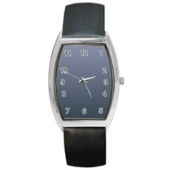 Cool Gray To Charcoal Gradient Tonneau Leather Watch