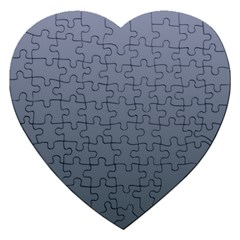 Cool Gray To Charcoal Gradient Jigsaw Puzzle (Heart)