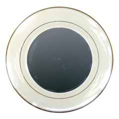 Cool Gray To Charcoal Gradient Porcelain Display Plate