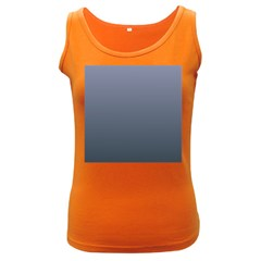 Cool Gray To Charcoal Gradient Womens  Tank Top (Dark Colored)