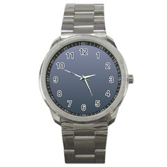 Cool Gray To Charcoal Gradient Sport Metal Watch