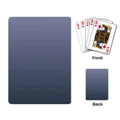 Cool Gray To Charcoal Gradient Playing Cards Single Design