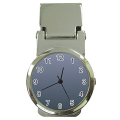 Cool Gray To Charcoal Gradient Money Clip With Watch