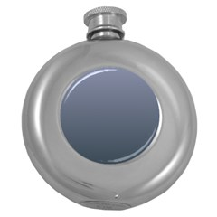 Cool Gray To Charcoal Gradient Hip Flask (Round)