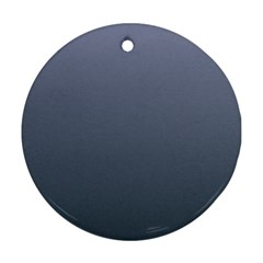 Cool Gray To Charcoal Gradient Round Ornament (two Sides)