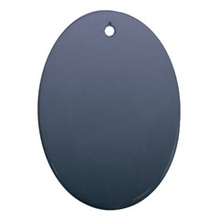 Cool Gray To Charcoal Gradient Oval Ornament (Two Sides)