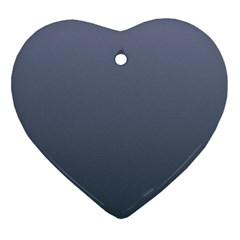 Cool Gray To Charcoal Gradient Heart Ornament (Two Sides)