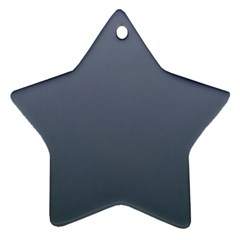Cool Gray To Charcoal Gradient Star Ornament (Two Sides)