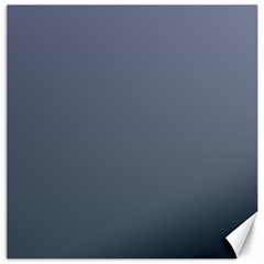 Cool Gray To Charcoal Gradient Canvas 12  X 12  (unframed)