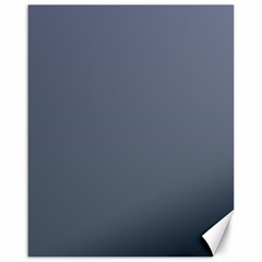 Cool Gray To Charcoal Gradient Canvas 16  X 20  (unframed)