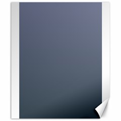 Cool Gray To Charcoal Gradient Canvas 20  x 24  (Unframed)