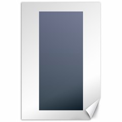 Cool Gray To Charcoal Gradient Canvas 24  x 36  (Unframed)