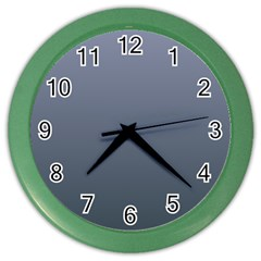 Cool Gray To Charcoal Gradient Wall Clock (Color)