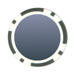Cool Gray To Charcoal Gradient Poker Chip