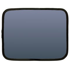 Cool Gray To Charcoal Gradient Netbook Case (Large)
