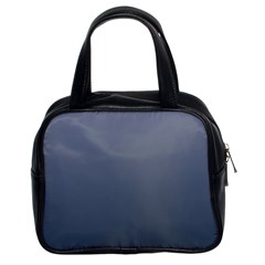 Cool Gray To Charcoal Gradient Classic Handbag (two Sides)