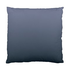 Cool Gray To Charcoal Gradient Cushion Case (One Side)