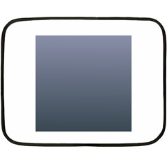 Cool Gray To Charcoal Gradient Mini Fleece Blanket (Two-sided)
