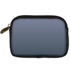 Cool Gray To Charcoal Gradient Digital Camera Leather Case