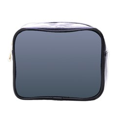 Cool Gray To Charcoal Gradient Mini Travel Toiletry Bag (one Side)