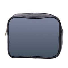 Cool Gray To Charcoal Gradient Mini Travel Toiletry Bag (Two Sides)