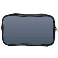 Cool Gray To Charcoal Gradient Travel Toiletry Bag (two Sides)
