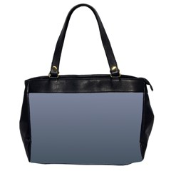 Cool Gray To Charcoal Gradient Oversize Office Handbag (two Sides)