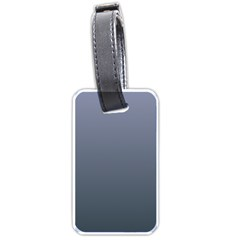 Cool Gray To Charcoal Gradient Luggage Tag (Two Sides)