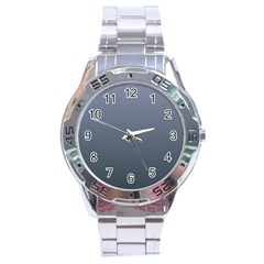 Cool Gray To Charcoal Gradient Stainless Steel Watch (Men s)