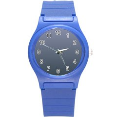 Cool Gray To Charcoal Gradient Plastic Sport Watch (small)