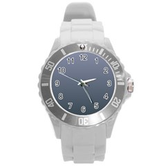 Cool Gray To Charcoal Gradient Plastic Sport Watch (large)