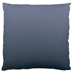 Cool Gray To Charcoal Gradient Large Cushion Case (One Side)