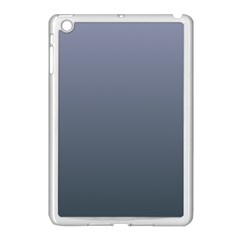 Cool Gray To Charcoal Gradient Apple iPad Mini Case (White)
