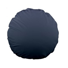 Cool Gray To Charcoal Gradient 15  Premium Round Cushion