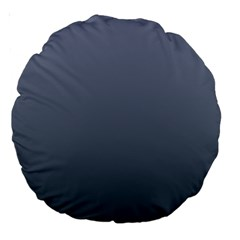 Cool Gray To Charcoal Gradient 18  Premium Round Cushion