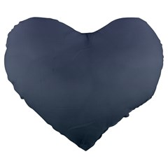 Cool Gray To Charcoal Gradient 19  Premium Heart Shape Cushion