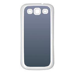 Cool Gray To Charcoal Gradient Samsung Galaxy S3 Back Case (White)
