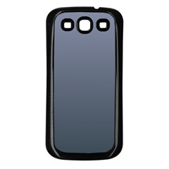 Cool Gray To Charcoal Gradient Samsung Galaxy S3 Back Case (Black)