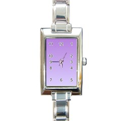 Lavender To Pale Lavender Gradient Rectangular Italian Charm Watch