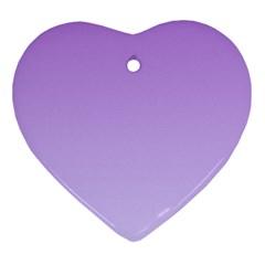 Lavender To Pale Lavender Gradient Heart Ornament
