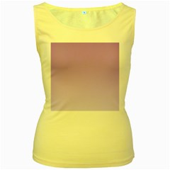 Lavender To Pale Lavender Gradient Womens  Tank Top (Yellow)