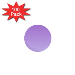 Lavender To Pale Lavender Gradient 1  Mini Button (100 pack)
