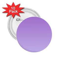 Lavender To Pale Lavender Gradient 2.25  Button (10 pack)