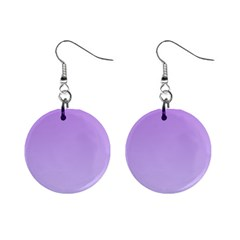 Lavender To Pale Lavender Gradient Mini Button Earrings