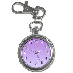 Lavender To Pale Lavender Gradient Key Chain & Watch