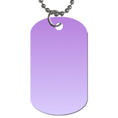 Lavender To Pale Lavender Gradient Dog Tag (one Sided)