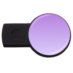 Lavender To Pale Lavender Gradient 1GB USB Flash Drive (Round)